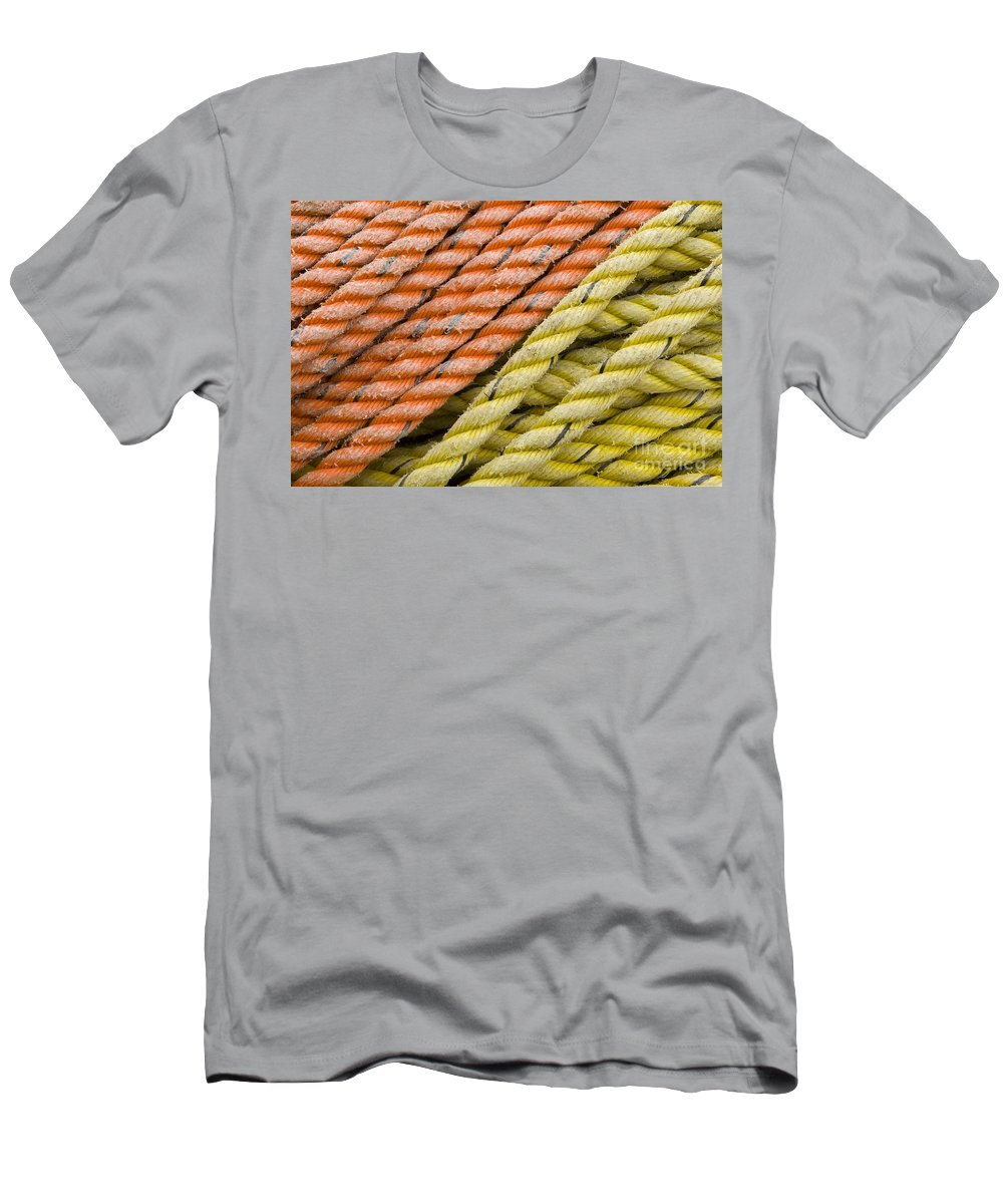 Still Life Men's T-Shirt (Athletic Fit) featuring the photograph Ropes by John Shaw