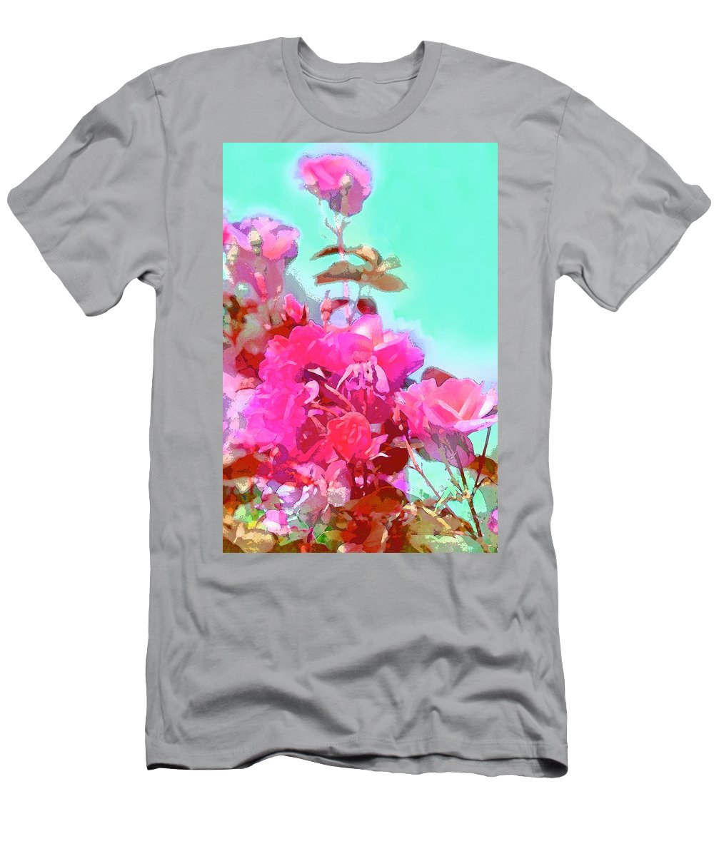 Floral Men's T-Shirt (Athletic Fit) featuring the photograph Rose 249 by Pamela Cooper