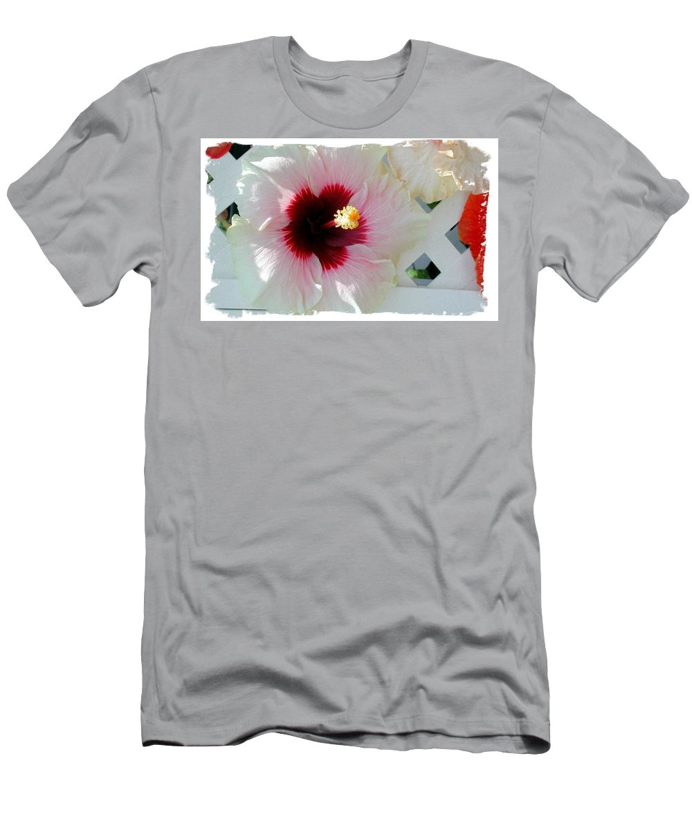 Photograph Men's T-Shirt (Athletic Fit) featuring the photograph Hibiscus Flower by Art Speakman