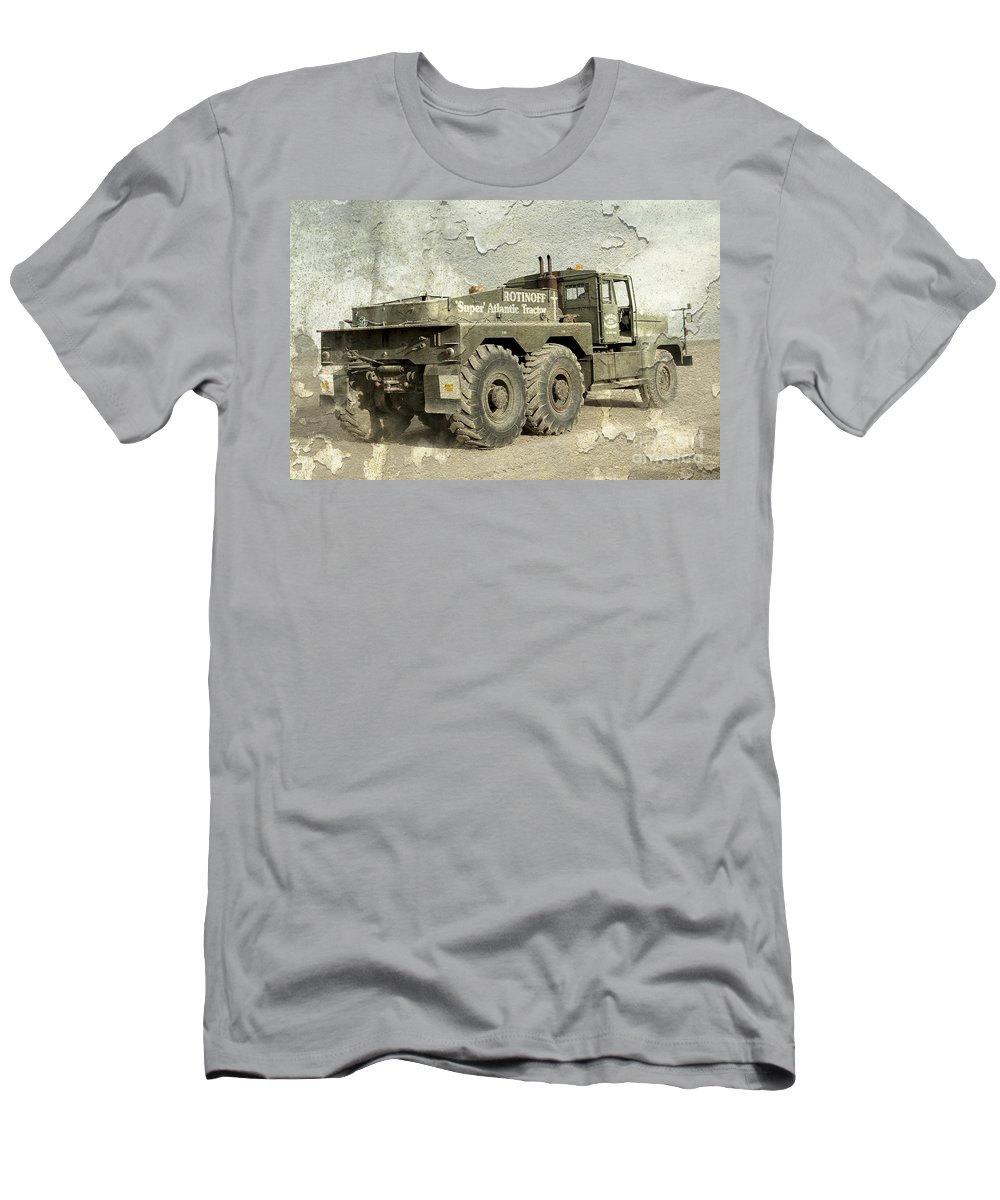 Rotinoff Men's T-Shirt (Athletic Fit) featuring the photograph Rotinoff Tractor by Rob Hawkins