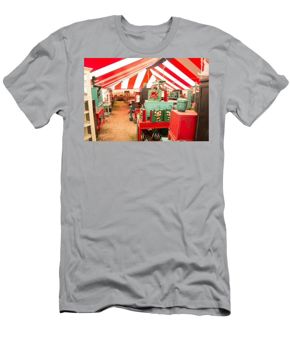 Texas Men's T-Shirt (Athletic Fit) featuring the photograph Round Top Texas Under The Big Tent by JG Thompson