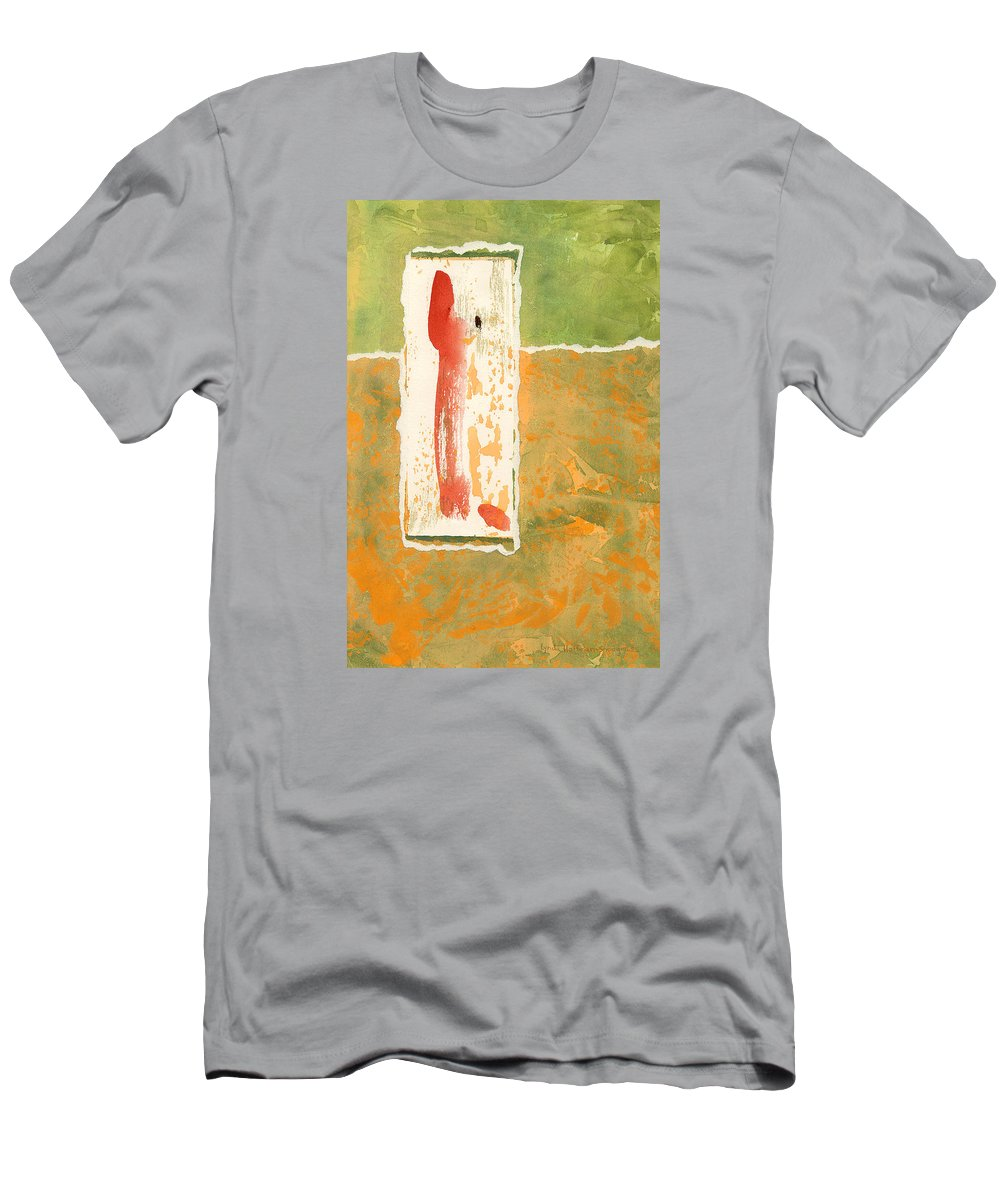 Scroll Men's T-Shirt (Athletic Fit) featuring the painting Sacred Scroll by Lynda Hoffman-Snodgrass