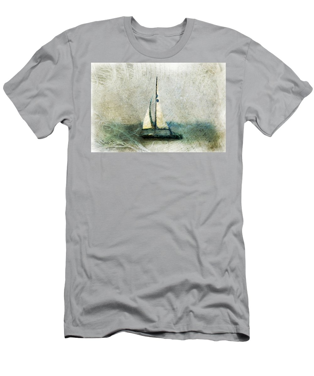 Sally Starr Men's T-Shirt (Athletic Fit) featuring the mixed media Sailin' With Sally Starr by Trish Tritz