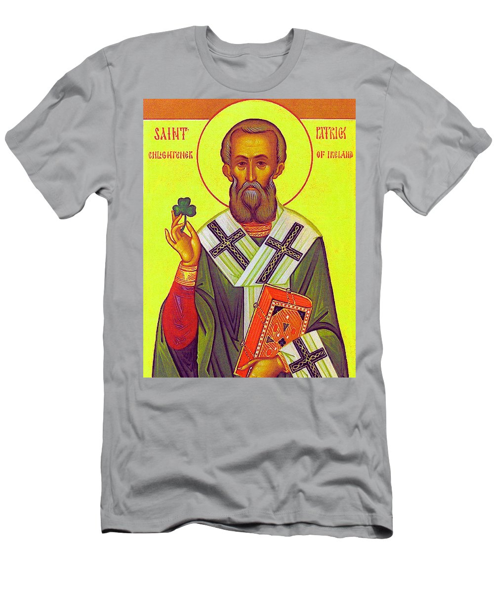 Saint Patrick Icon Men's T-Shirt (Athletic Fit) featuring the photograph Saint Patrick by Munir Alawi