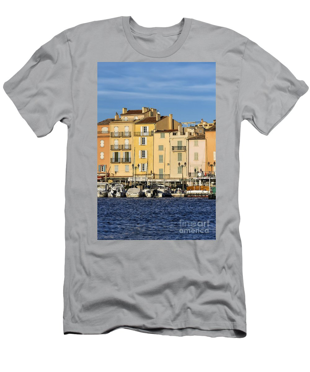Cote D'azur Men's T-Shirt (Athletic Fit) featuring the photograph Saint-tropez by John Greim