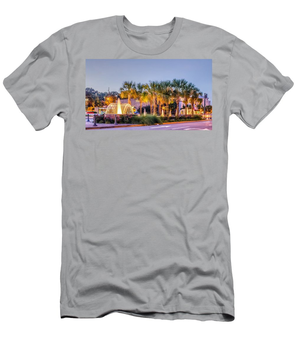 Architecture Men's T-Shirt (Athletic Fit) featuring the photograph Saluda Avenue At Blossom Street by Rob Sellers