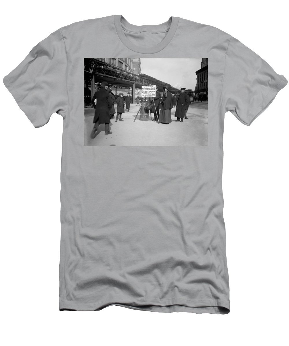 1903 Men's T-Shirt (Athletic Fit) featuring the photograph Salvation Army Christmas by Granger