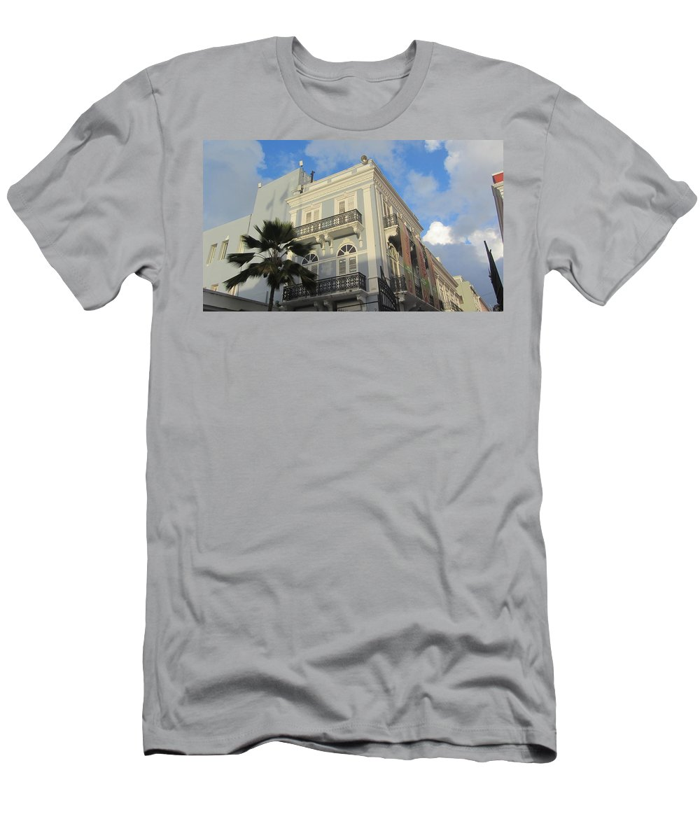 Architecture Men's T-Shirt (Athletic Fit) featuring the photograph San Juan Architecture 1 by Anita Burgermeister