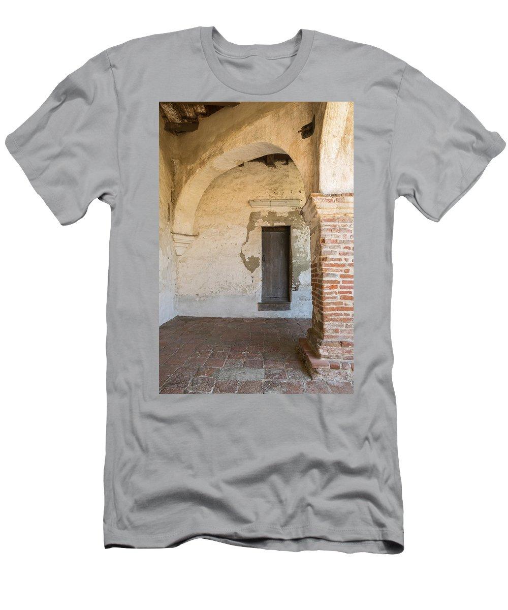 San Juan Capistranio Men's T-Shirt (Athletic Fit) featuring the photograph San Juan Capistrano Vi I I by Robert VanDerWal
