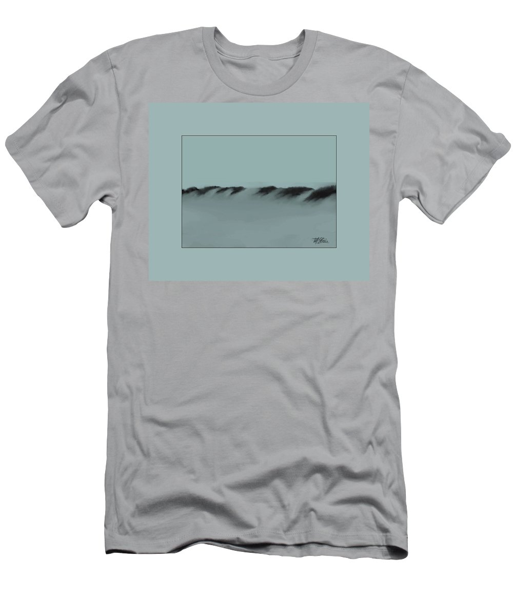 Fineartamerica.com Men's T-Shirt (Athletic Fit) featuring the painting Sand Dunes 1 by Diane Strain