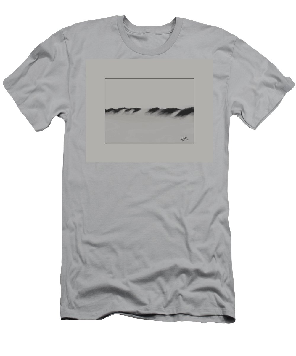 Fineartamerica.com Men's T-Shirt (Athletic Fit) featuring the painting Sand Dunes 10 by Diane Strain