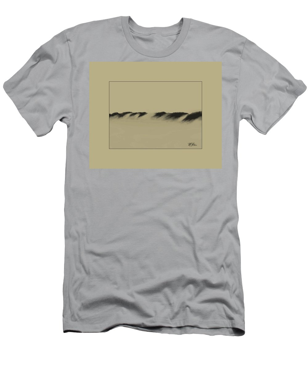 Fineartamerica.com Men's T-Shirt (Athletic Fit) featuring the painting Sand Dunes  12 by Diane Strain