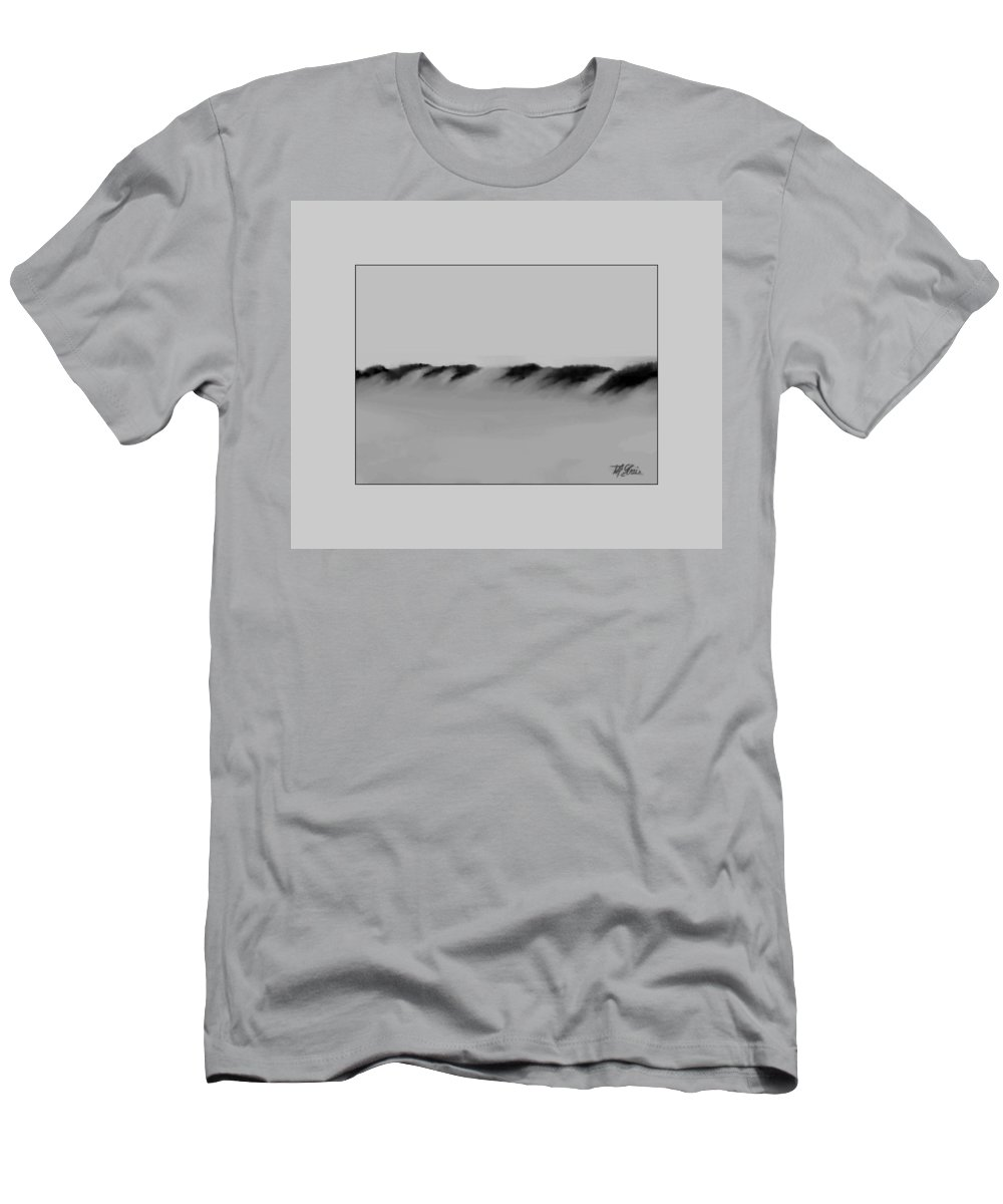 Fineartamerica.com Men's T-Shirt (Athletic Fit) featuring the painting Sand Dunes 2 by Diane Strain