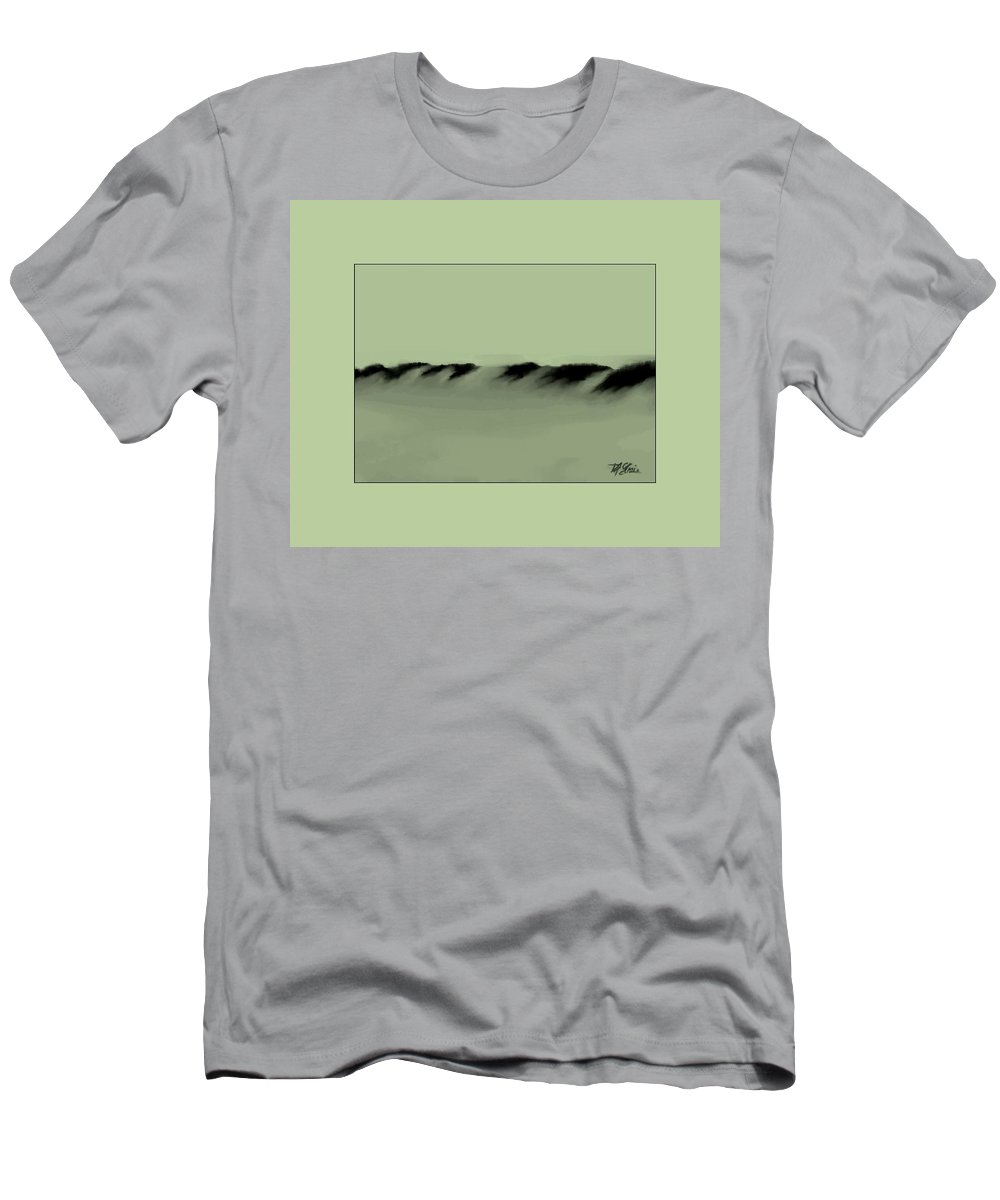 Fineartamerica.com Men's T-Shirt (Athletic Fit) featuring the painting Sand Dunes 5 by Diane Strain