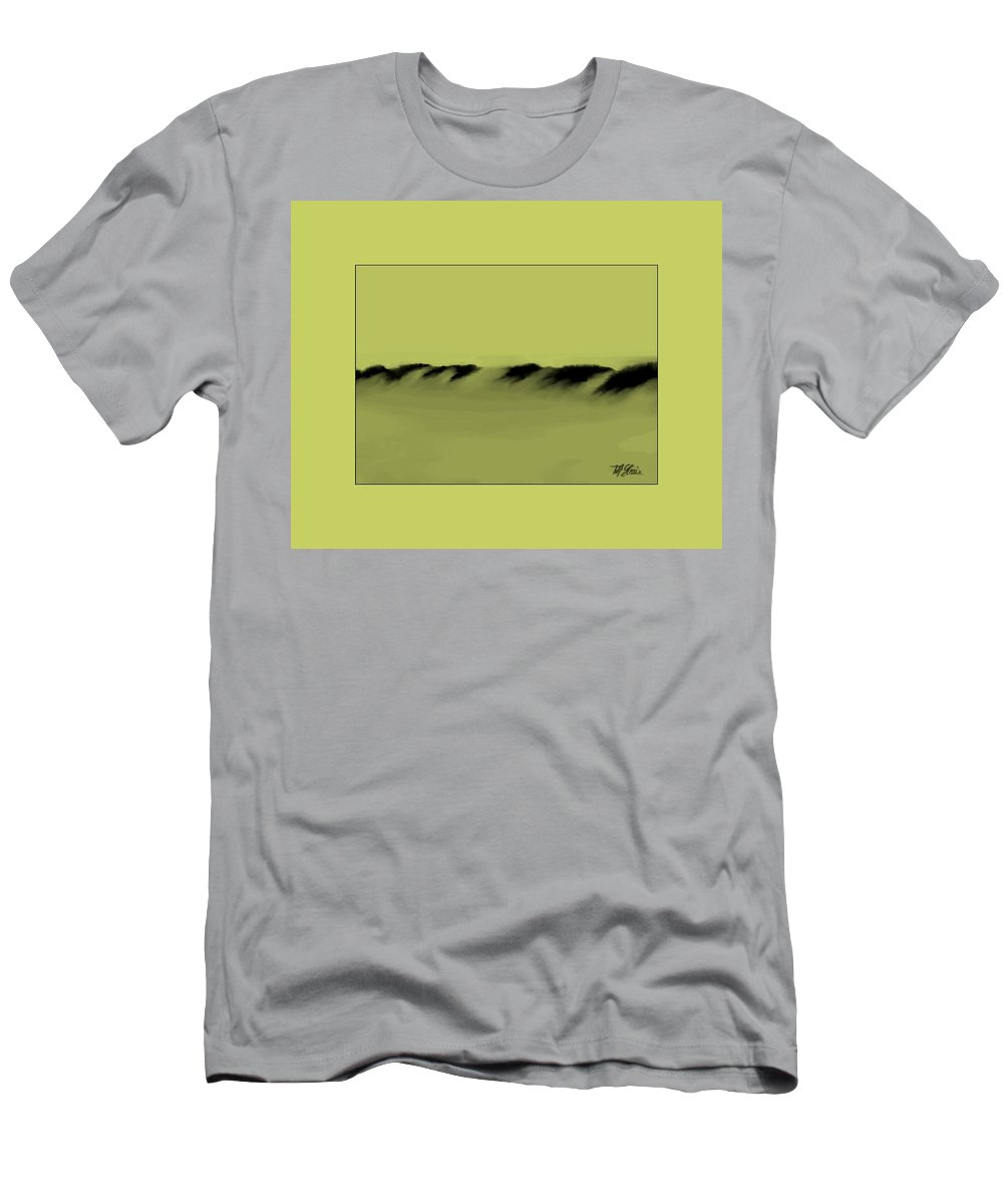 Fineartamerica.com Men's T-Shirt (Athletic Fit) featuring the painting Sand Dunes 6 by Diane Strain