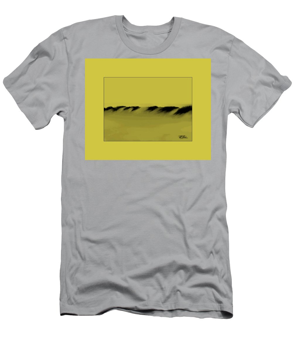 Fineartamerica.com Men's T-Shirt (Athletic Fit) featuring the painting Sand Dunes  7 by Diane Strain