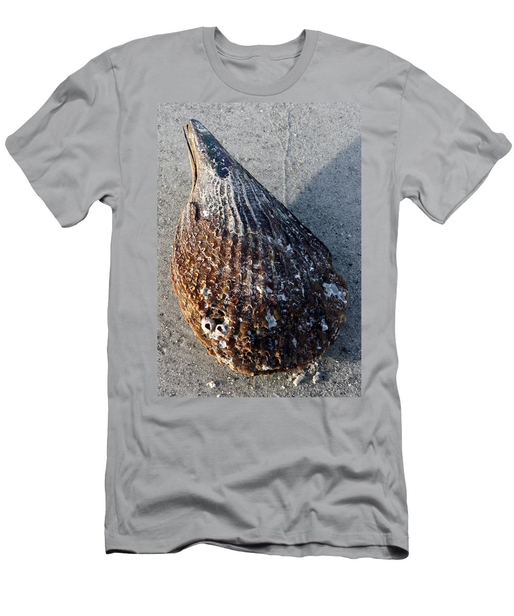 Sand Key Men's T-Shirt (Athletic Fit) featuring the photograph Sand Key Shell by David Nicholls