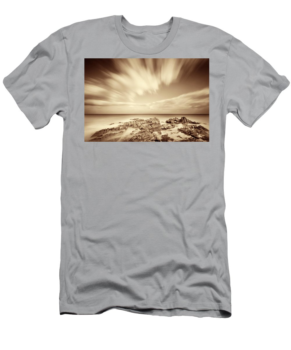 Sardinia Men's T-Shirt (Athletic Fit) featuring the photograph Sardinia - Costa Del Sud by Alexander Voss