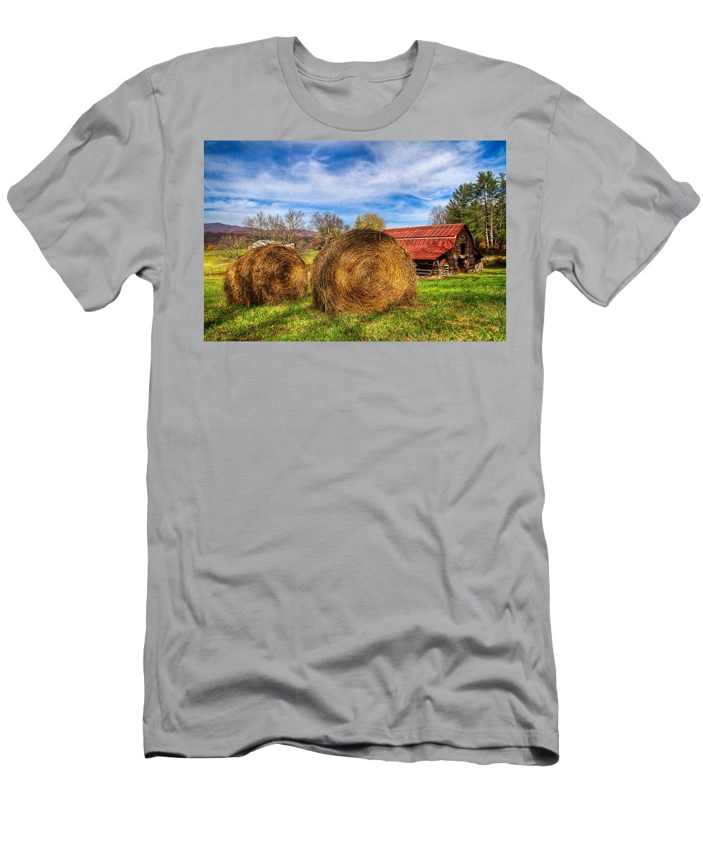 Andrews Men's T-Shirt (Athletic Fit) featuring the photograph Scarecrow's Dream by Debra and Dave Vanderlaan