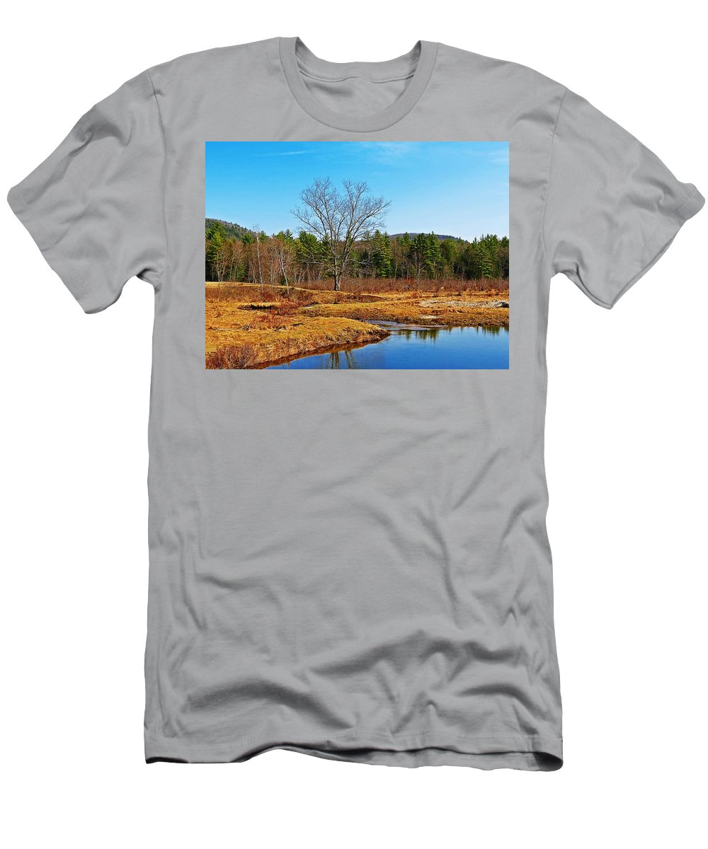 Winchester Men's T-Shirt (Athletic Fit) featuring the photograph Scenic Winchester by MTBobbins Photography