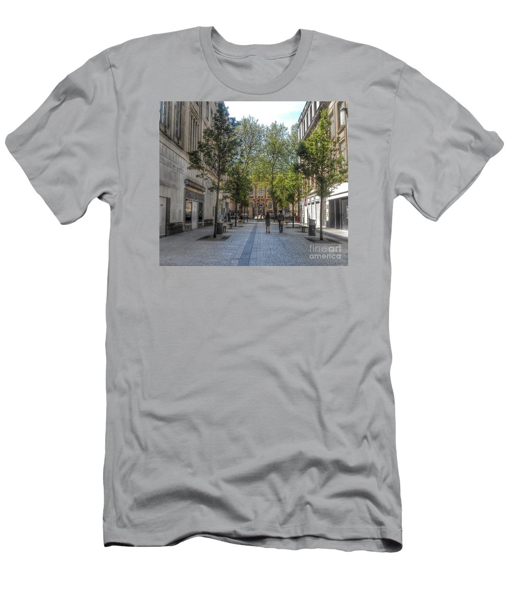 The Bluecoat Galleries Men's T-Shirt (Athletic Fit) featuring the photograph School Lane by Joan-Violet Stretch