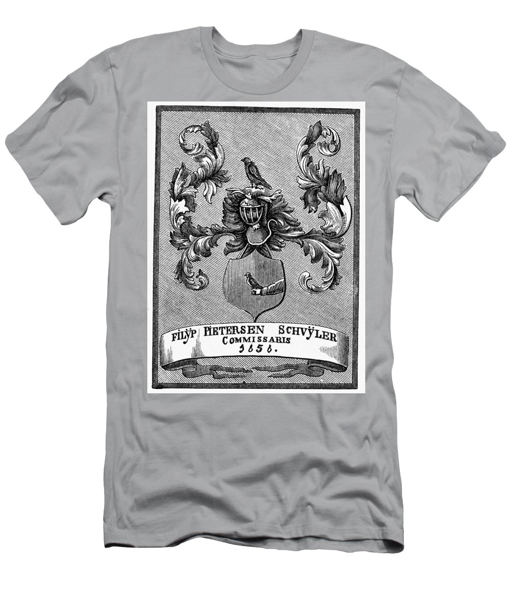 1876 Men's T-Shirt (Athletic Fit) featuring the painting Schuyler Family Arms by Granger