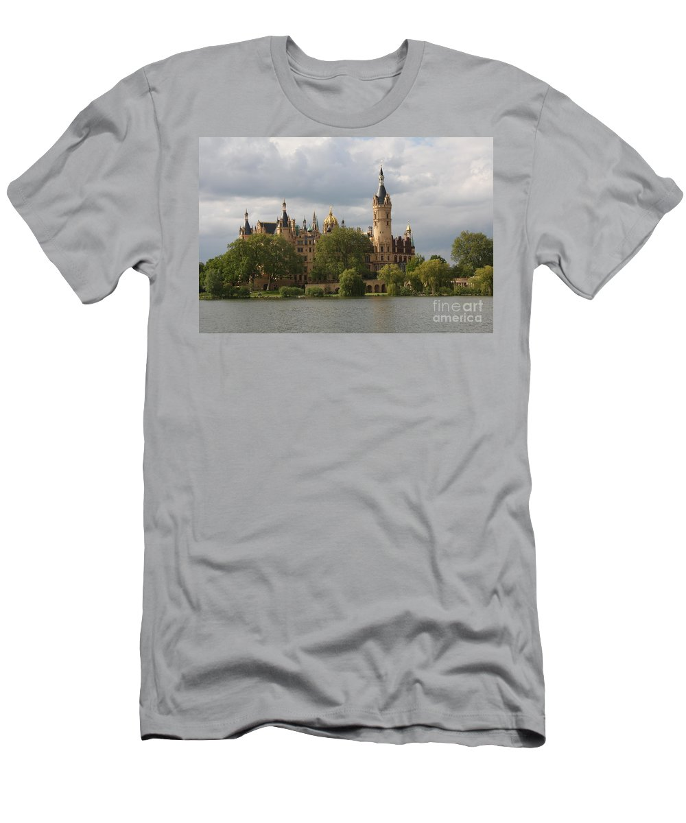 Schwerin Men's T-Shirt (Athletic Fit) featuring the photograph Schwerin Palace - Germany by Christiane Schulze Art And Photography