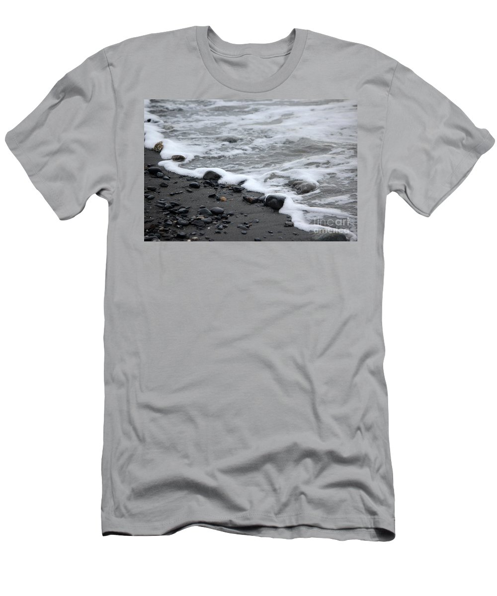 Beach Men's T-Shirt (Athletic Fit) featuring the photograph Sea Foam by Stacey May