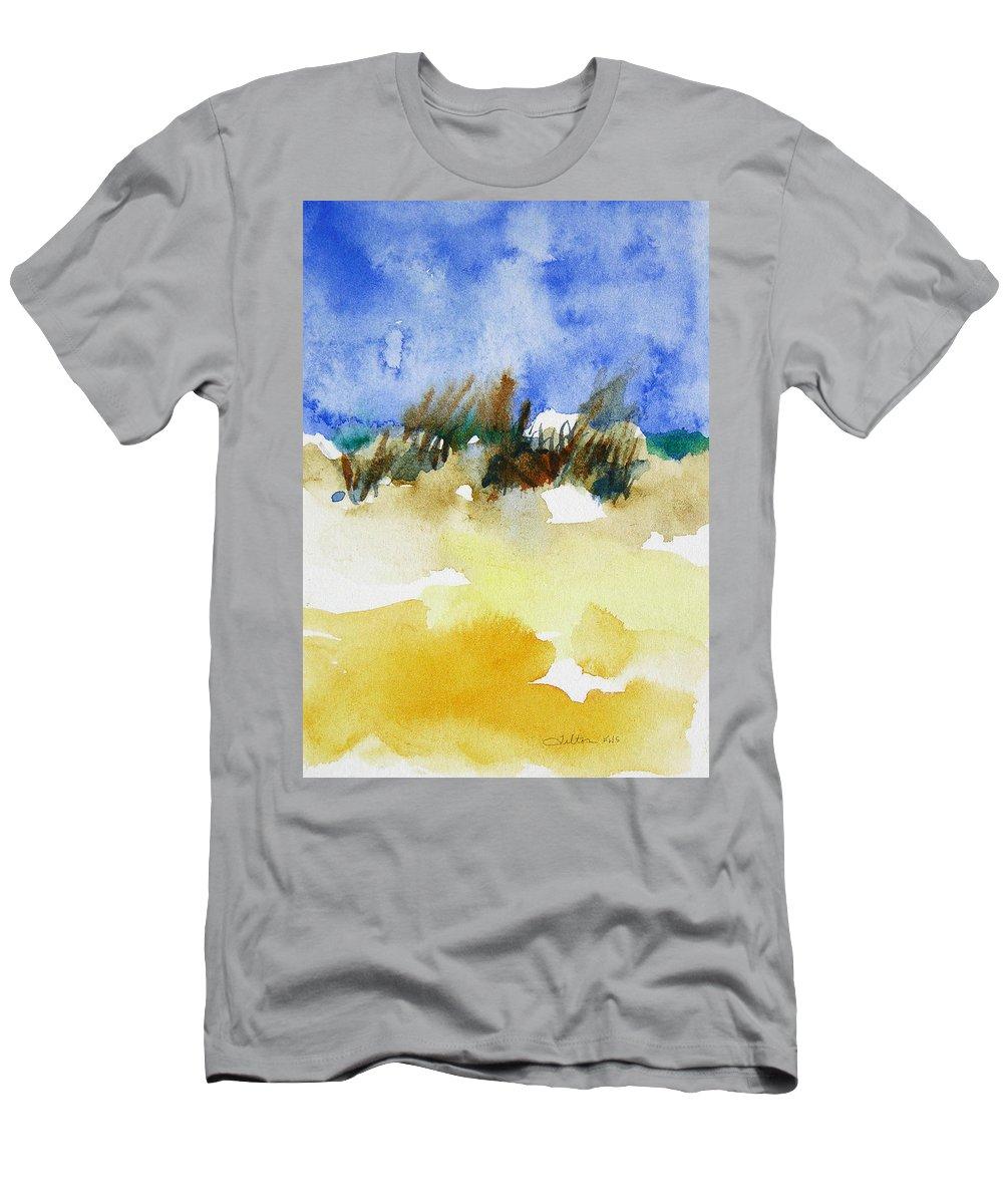 Art Men's T-Shirt (Athletic Fit) featuring the painting Sea Oats by Julianne Felton