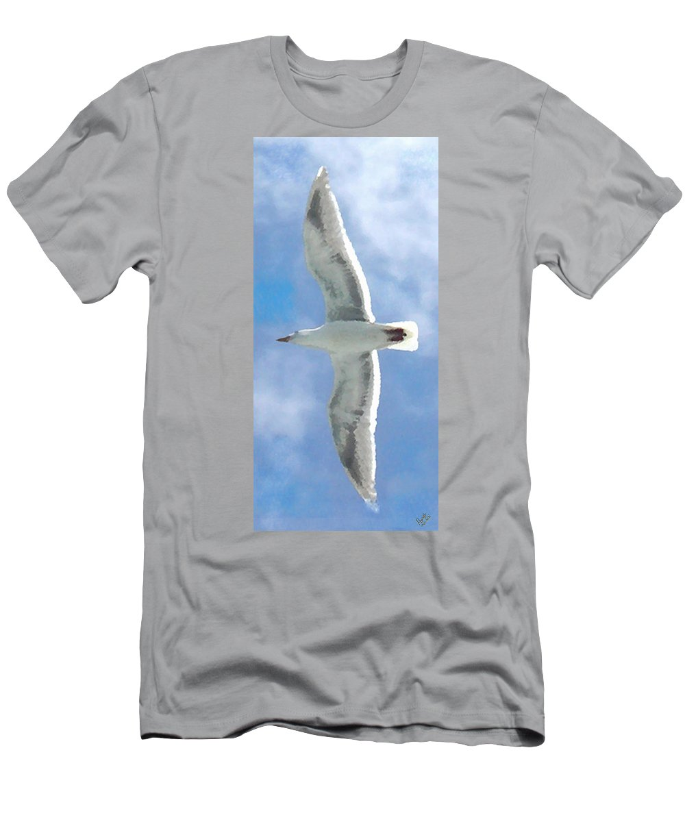 Seagull Men's T-Shirt (Athletic Fit) featuring the photograph Seagull 3 by Marcello Cicchini