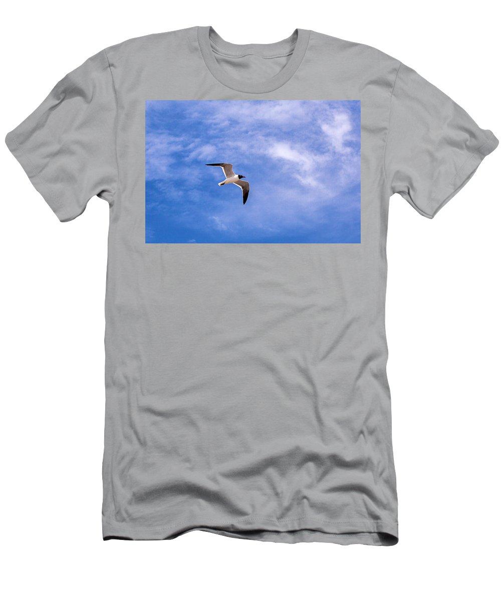 Landscape Men's T-Shirt (Athletic Fit) featuring the photograph Seagull by Sennie Pierson