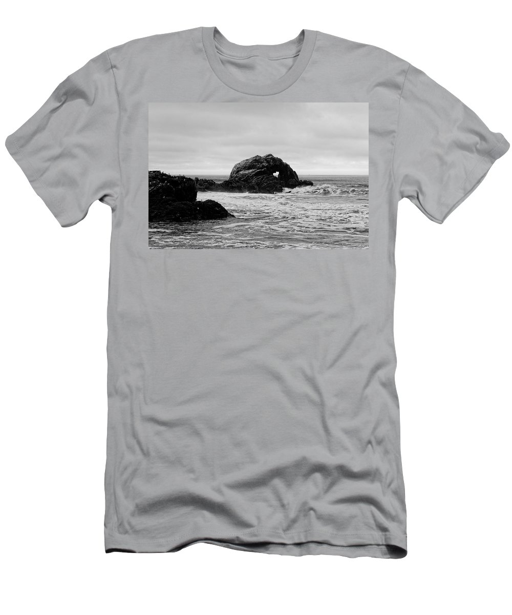 Seal Rock Men's T-Shirt (Athletic Fit) featuring the photograph Seal Rock by Scott Hill