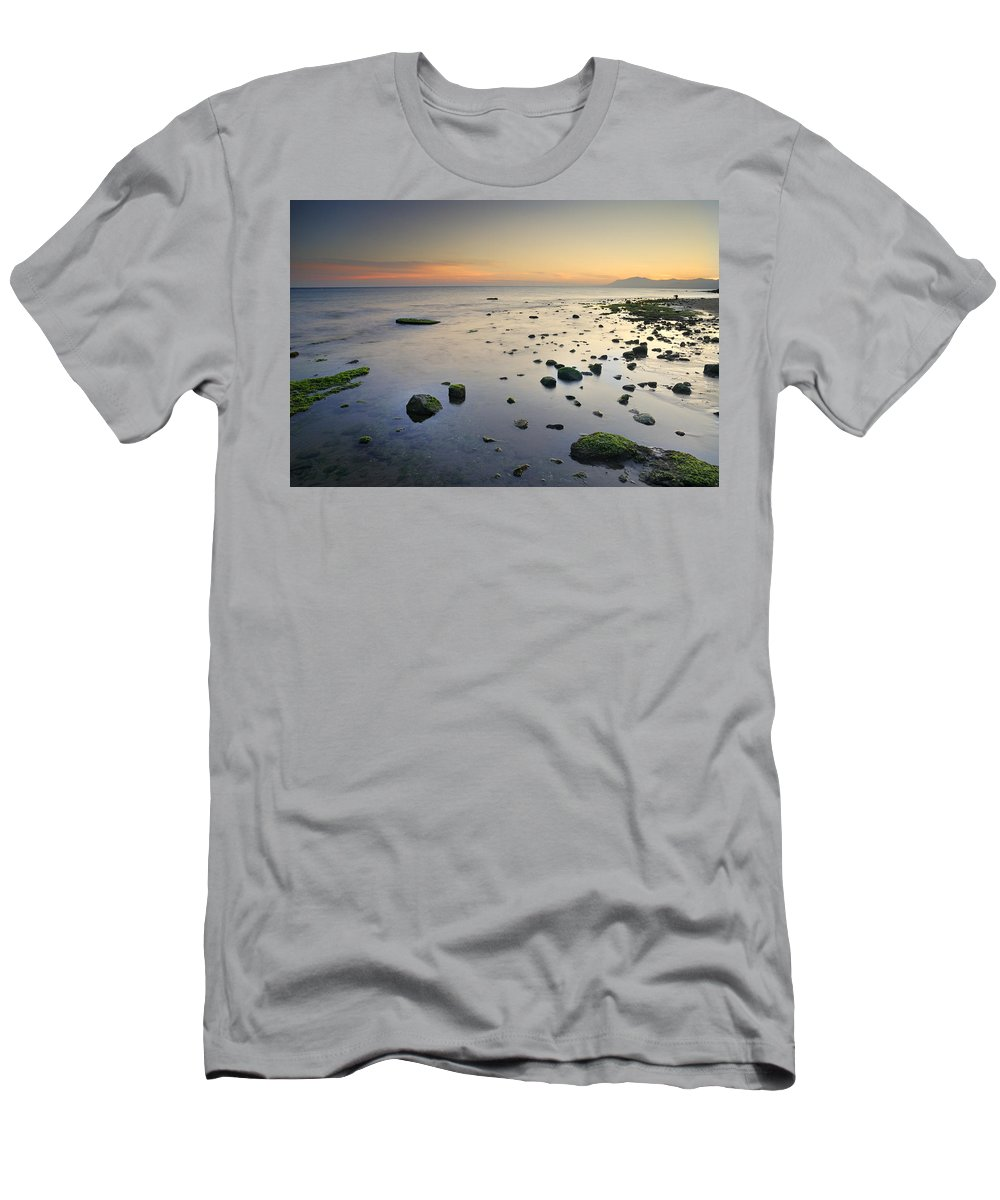 Water Men's T-Shirt (Athletic Fit) featuring the photograph Seasunset Dreams by Guido Montanes Castillo