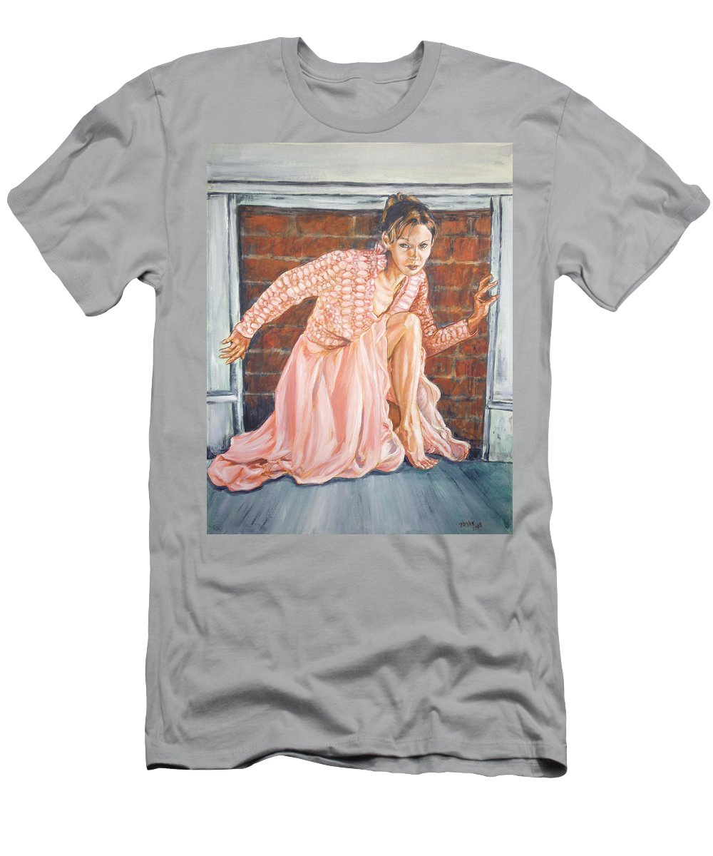 Blonde Men's T-Shirt (Athletic Fit) featuring the painting Secret Passage by Bryan Bustard