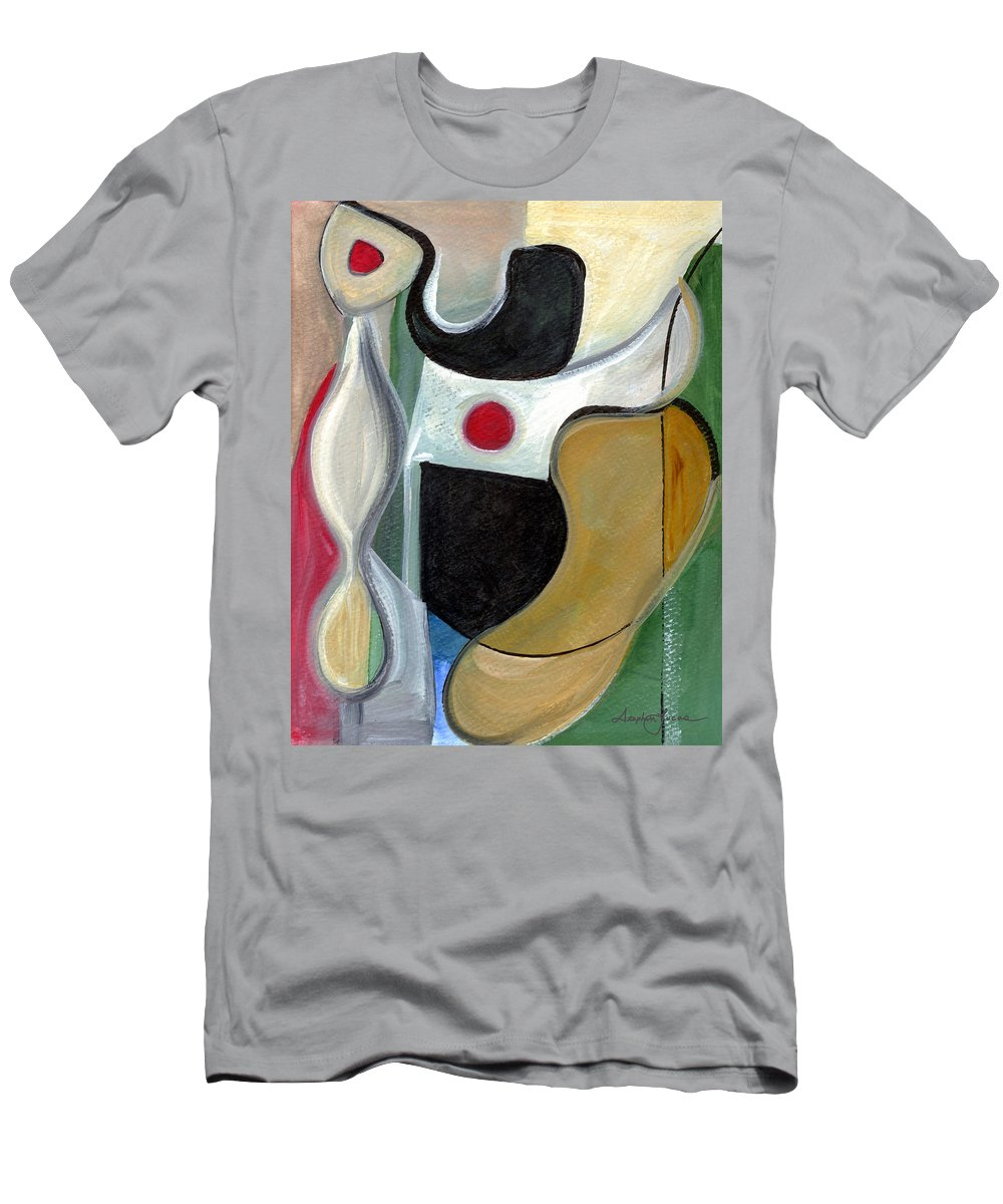 Abstract Art Men's T-Shirt (Athletic Fit) featuring the painting Sensuous Beauty by Stephen Lucas