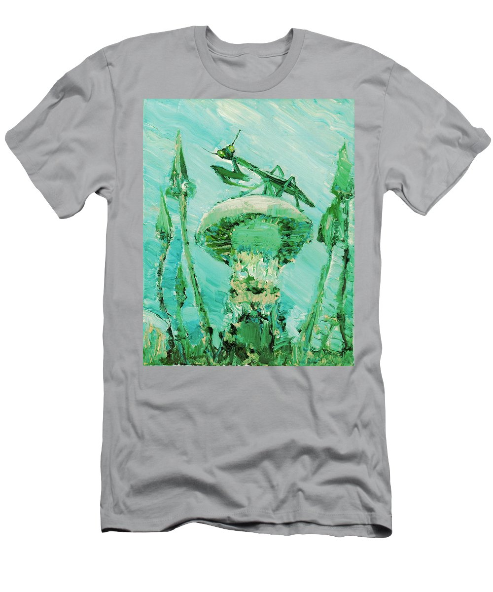 Mantis Men's T-Shirt (Athletic Fit) featuring the painting Sentinel by Fabrizio Cassetta