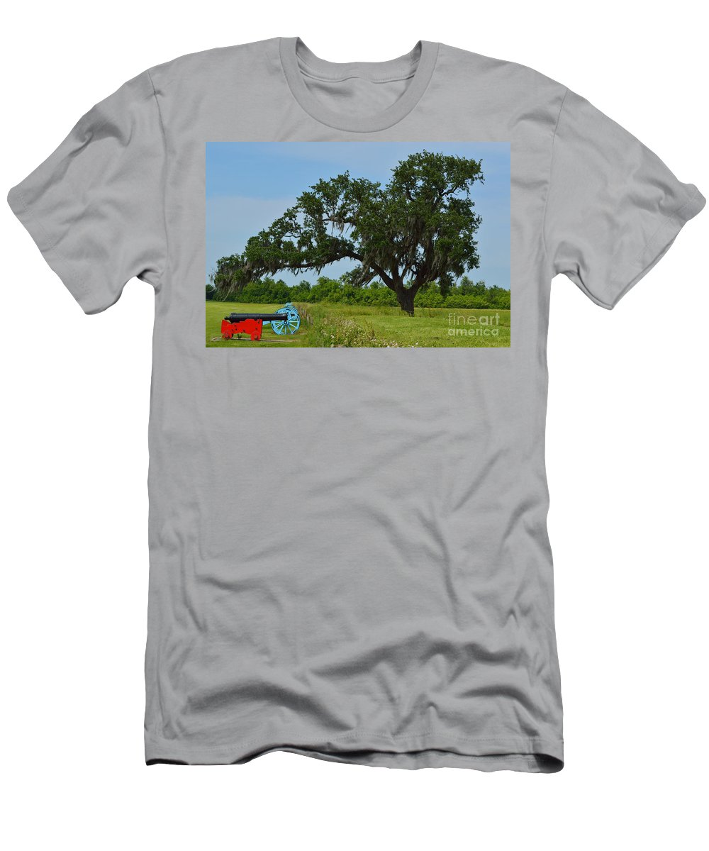 Battle Of New Orleans Men's T-Shirt (Athletic Fit) featuring the photograph Serenity by Alys Caviness-Gober