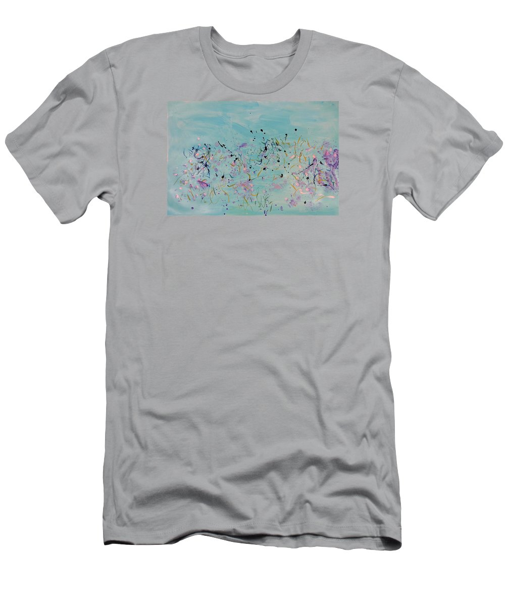 Bettye Harwell Art Men's T-Shirt (Athletic Fit) featuring the painting Serenity by Bettye Harwell