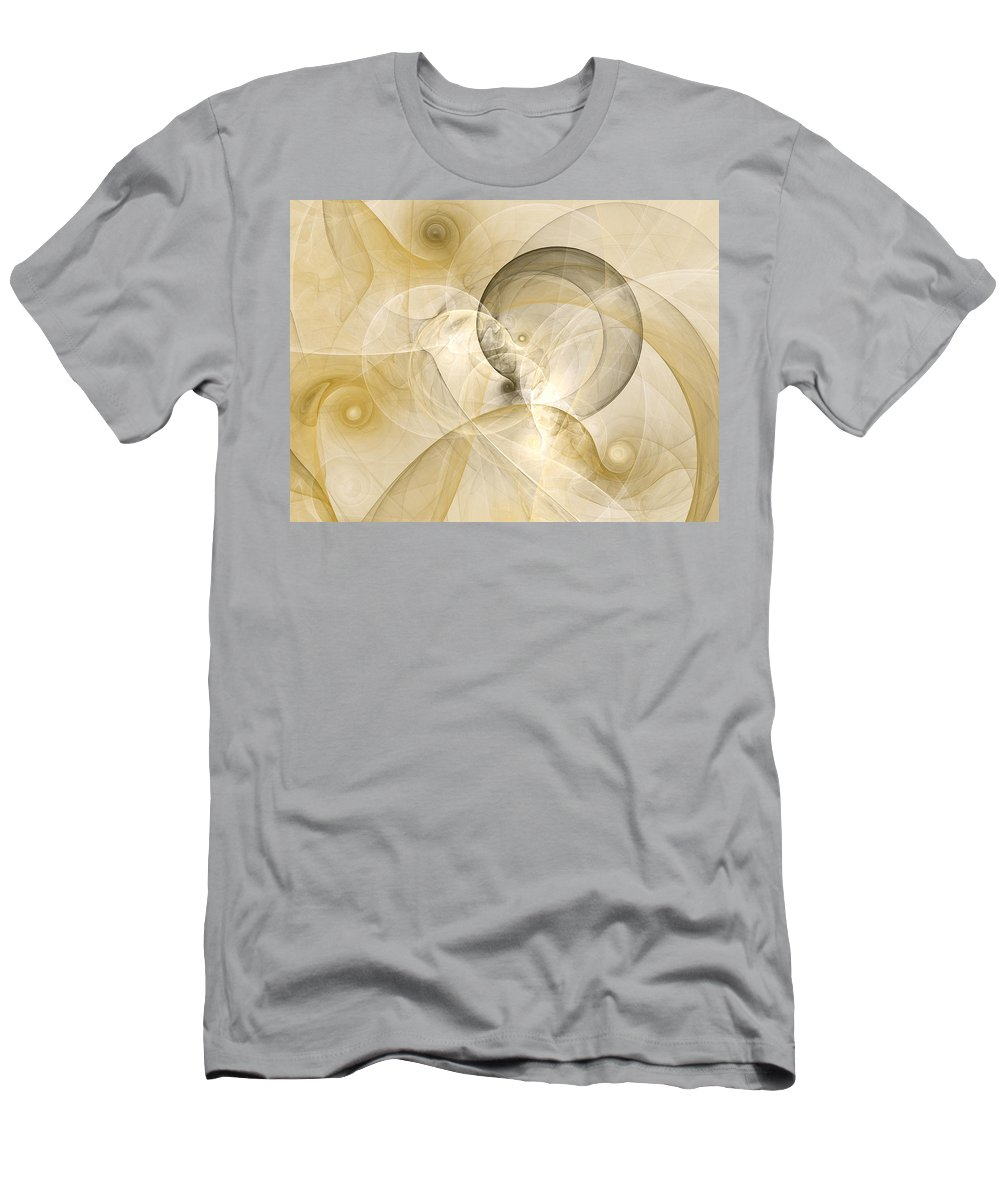 Abstract Men's T-Shirt (Athletic Fit) featuring the digital art Series Abstract Art In Earth Tones 3 by Gabiw Art