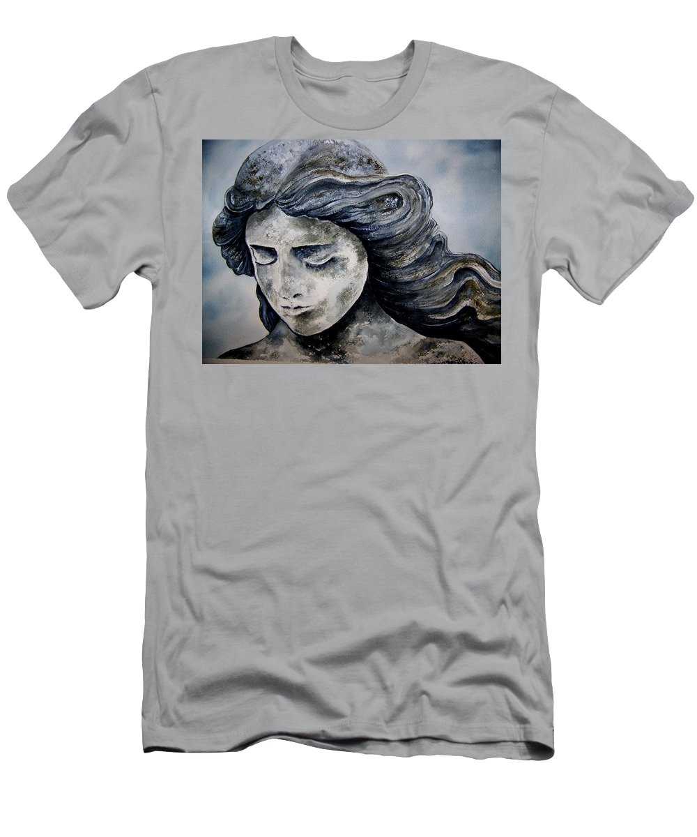 Stone Men's T-Shirt (Athletic Fit) featuring the painting Set In Stone by Brenda Owen