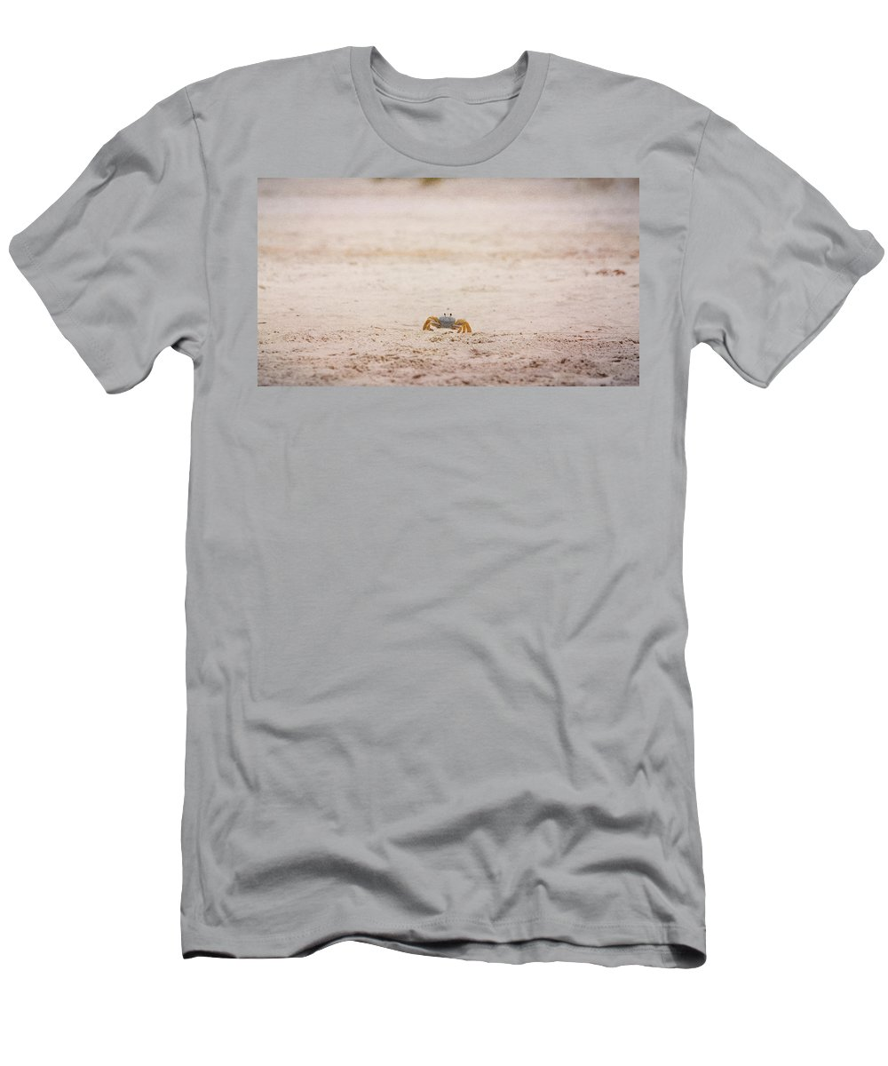 Crab Men's T-Shirt (Athletic Fit) featuring the photograph She Is Coming by Judy Hall-Folde