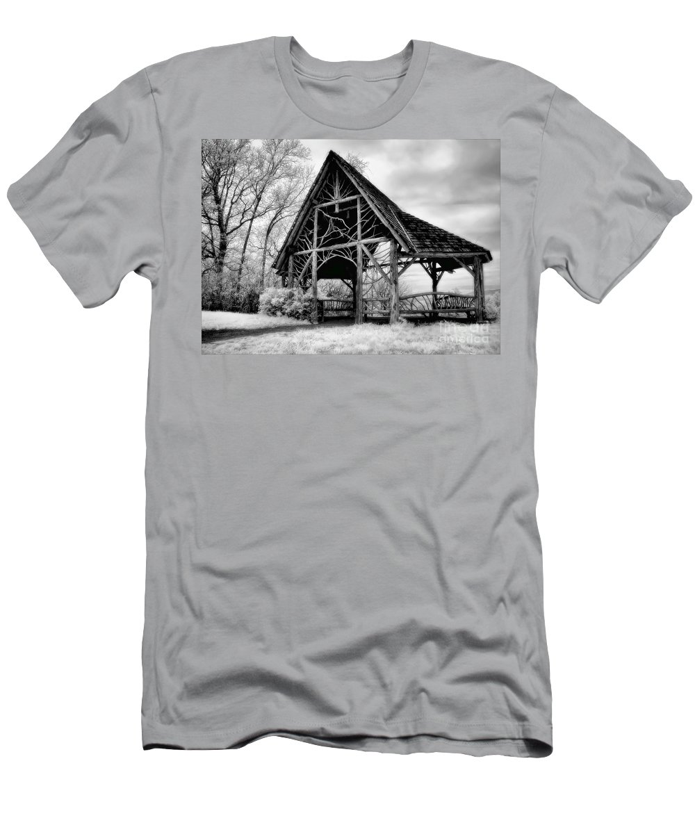 Poets Walk Men's T-Shirt (Athletic Fit) featuring the photograph Shelter From The Storm by Claudia Kuhn