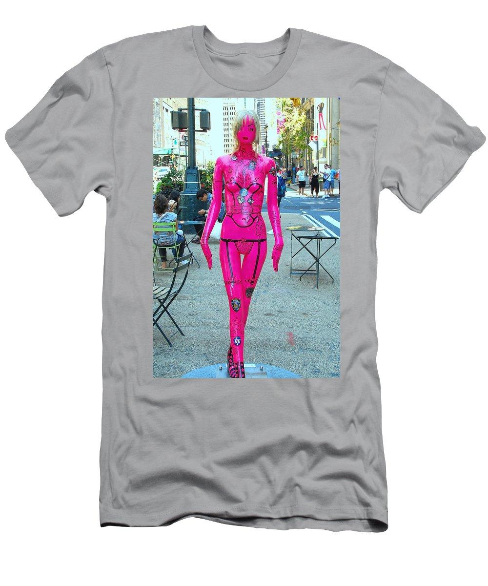 Broadway Catwalk Men's T-Shirt (Athletic Fit) featuring the photograph Sidewalk Catwalk 17 by Allen Beatty