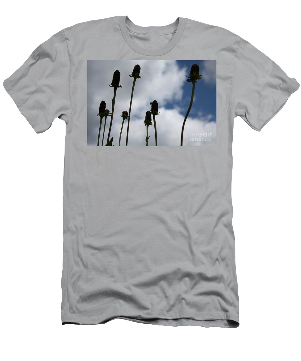 Sky Men's T-Shirt (Athletic Fit) featuring the photograph Sky Flowers by Brandi Maher