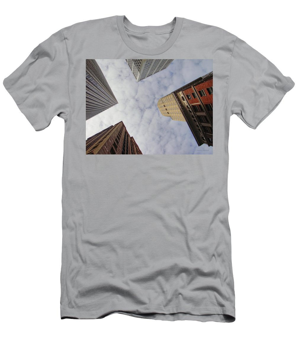 Skyscraper Men's T-Shirt (Athletic Fit) featuring the photograph Sky Scrapers by Donna Blackhall