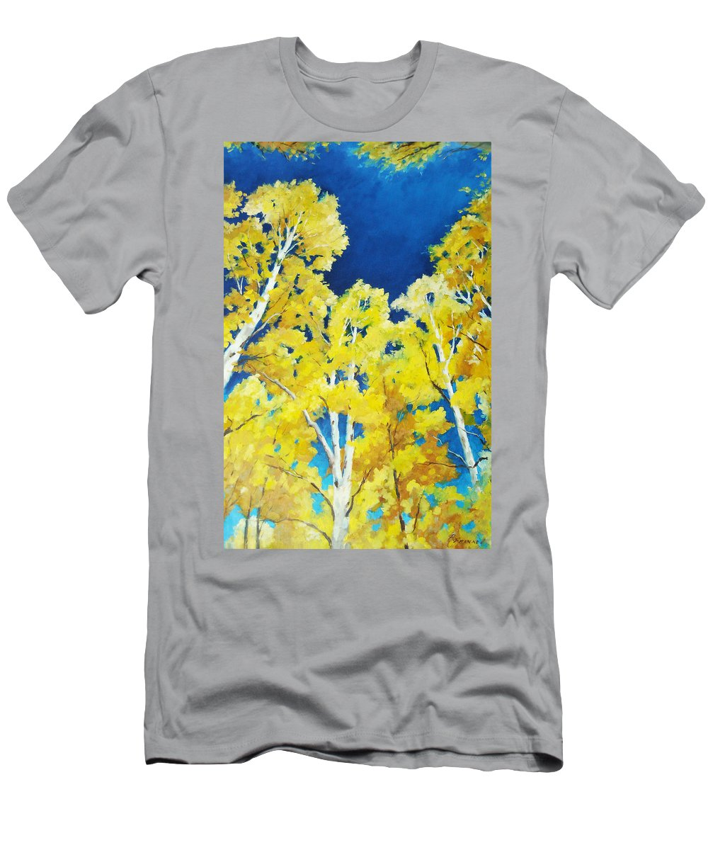 Sky Men's T-Shirt (Athletic Fit) featuring the painting Skyward by Richard T Pranke