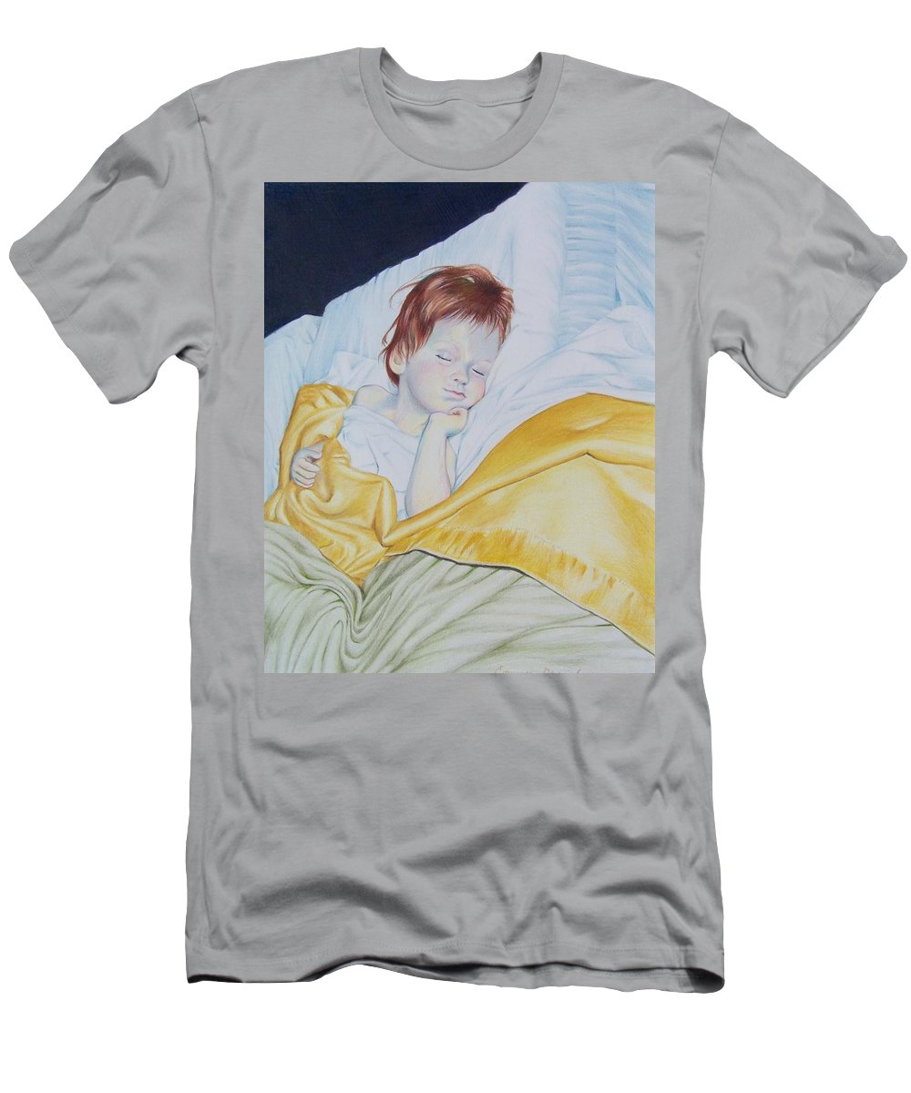 Baby Men's T-Shirt (Athletic Fit) featuring the mixed media Sleeping Beauty by Constance Drescher