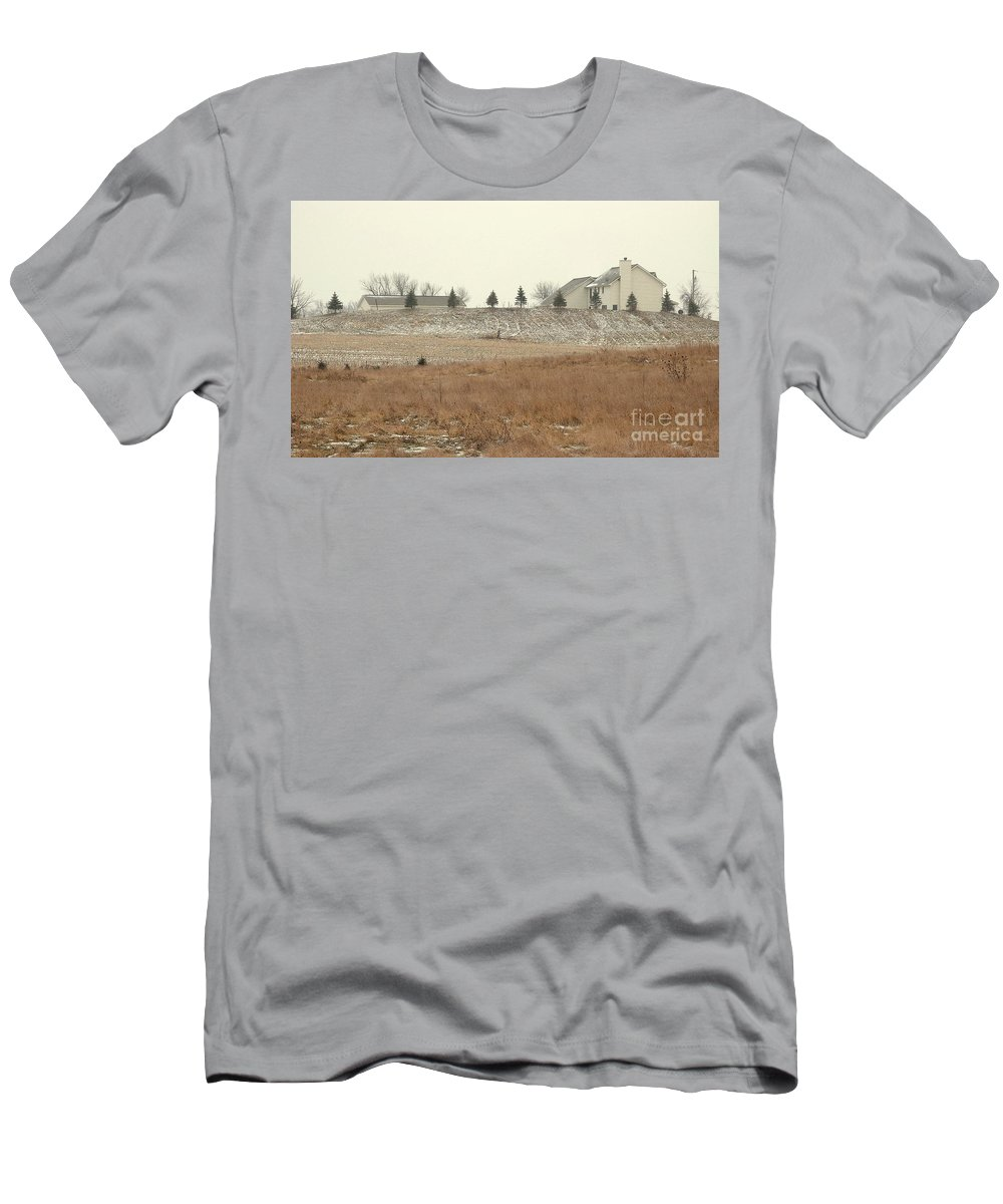 Winter Men's T-Shirt (Athletic Fit) featuring the photograph Snow-showered by Ann Horn