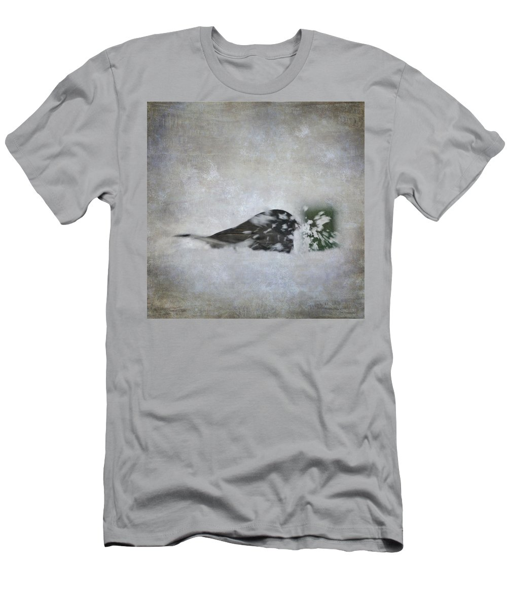 Bird Men's T-Shirt (Athletic Fit) featuring the photograph Snowbird by Melissa Smith
