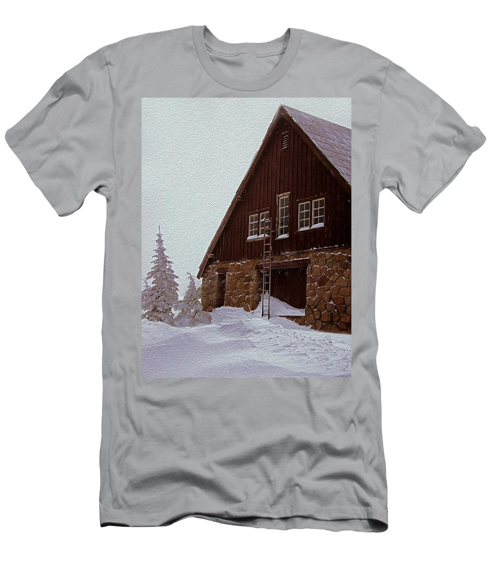 Snow Men's T-Shirt (Athletic Fit) featuring the photograph Snowed In by Tara Fisher